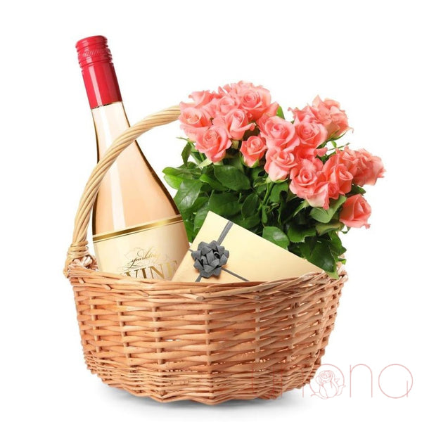 Romantic Trio Gift Basket By Holidays