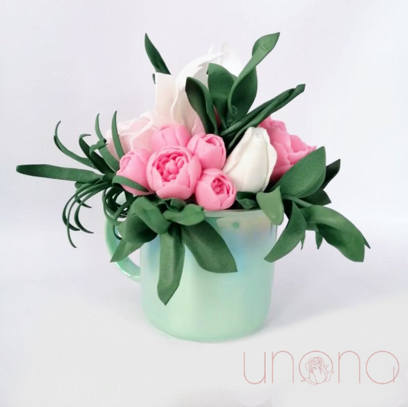 Soap Bouquet Of Peonies And Roses By City