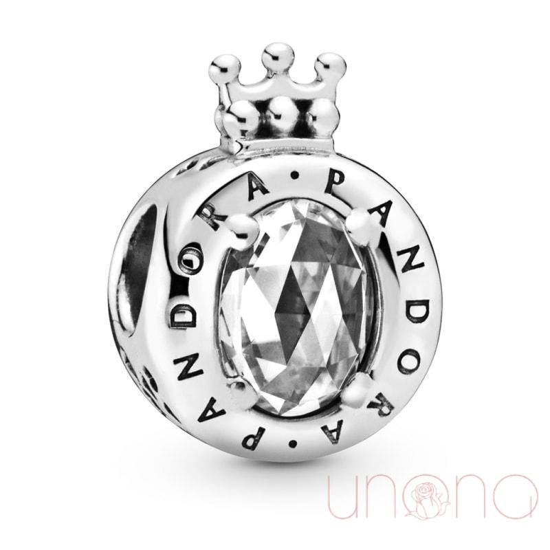 Sparkling Crown Charm White Jewelry