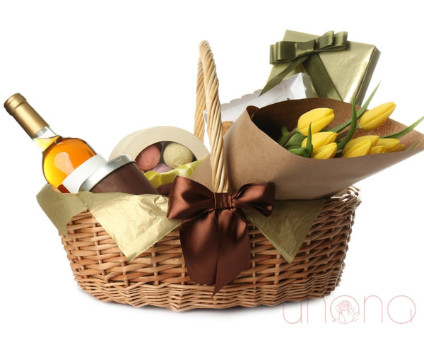 The Yummiest Wishes Gift Basket By Holidays