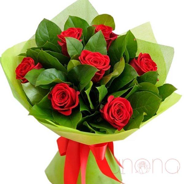 """Thinking about You"" 7 roses bouquet - Ukraine Gift Delivery"