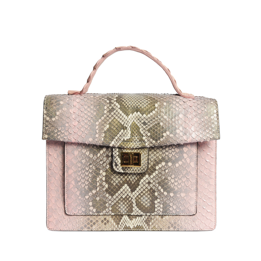 Pink Dreams Python-Croco Large Kandie