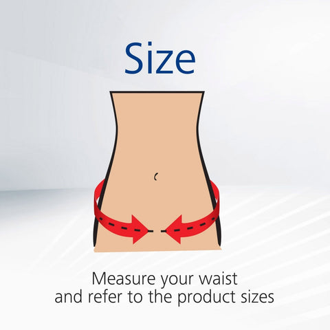 Checking waist size for adult diapers