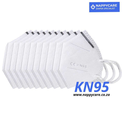 KN95 (FFP2/N95 Alternative) Face Mask / Respirator with metal nose clip (20pcs pack)