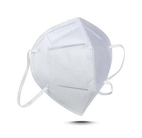 KN95 Face Mask with Metal Nose Clip Inside Mask (white) 1pc