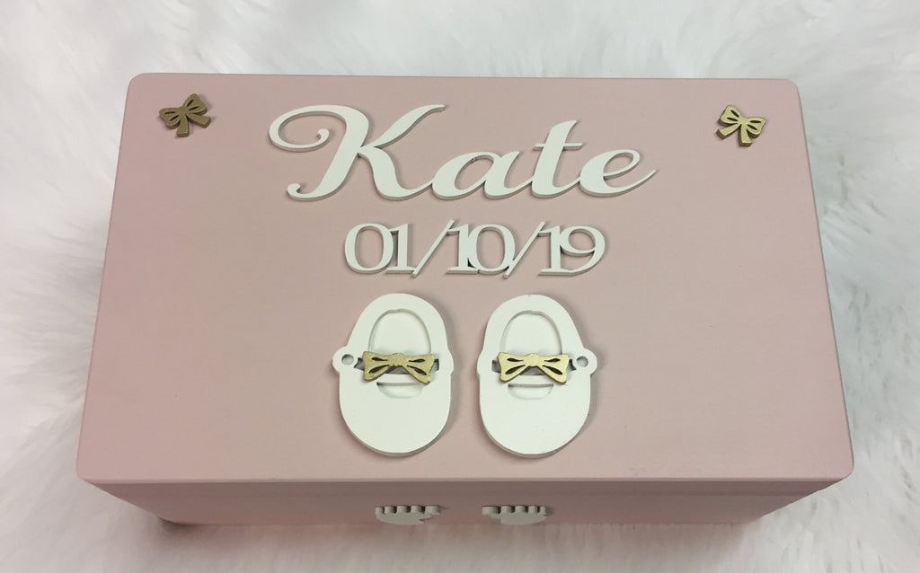Baby Keepsake Box  Baby memory box Baby girl keepsake box