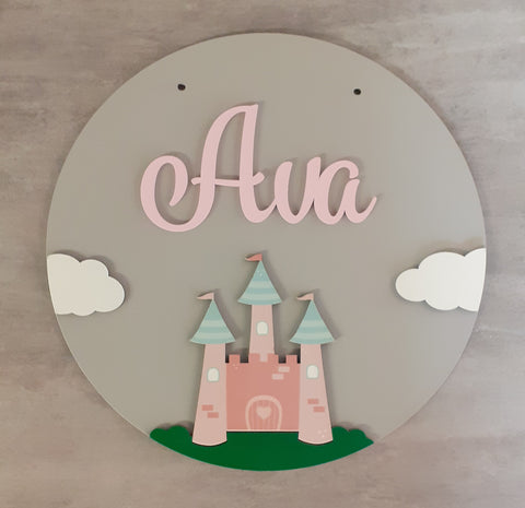 Princess - Bedroom Name Signs