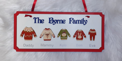 Christmas Jumper Family Signs