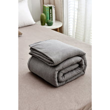 Load image into Gallery viewer, Weighted Blanket natural organic cotton with Cover 12 Loop Ties