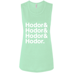 Hodor Ladies' Muscle Tank (White Imprint)