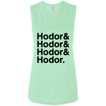 Hodor Ladies' Muscle Tank (Black Imprint)