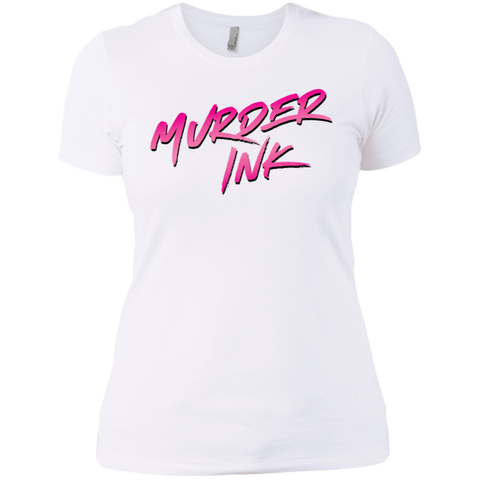 Murder Ink White Ladies' T