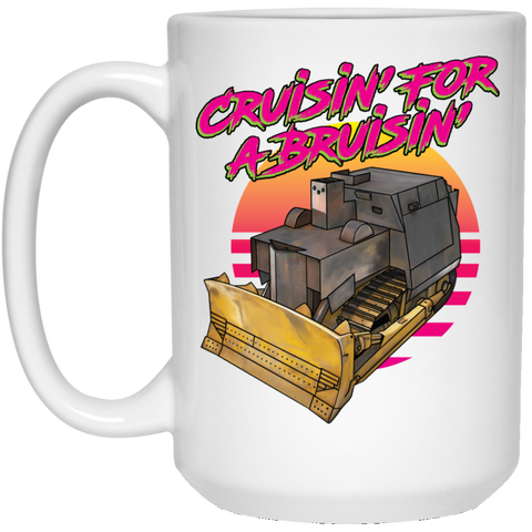 Killdozer 15 oz. White Mug