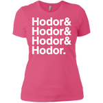Hodor Ladies' T (White Imprint)