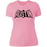 Austin Bat Ladies' T (Black Imprint)