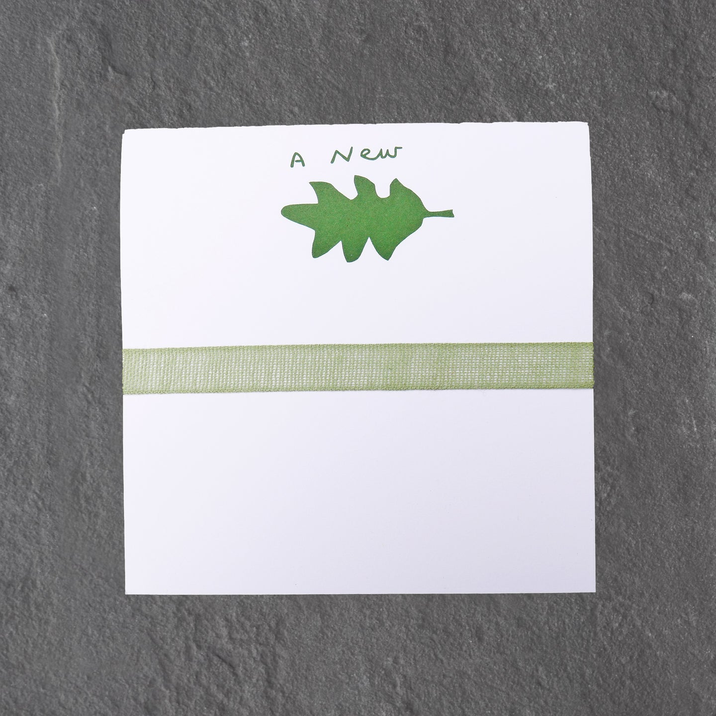 a new leaf notepad
