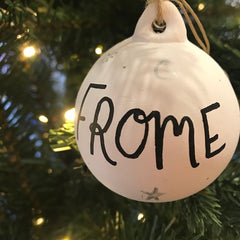 frome ceramic bauble