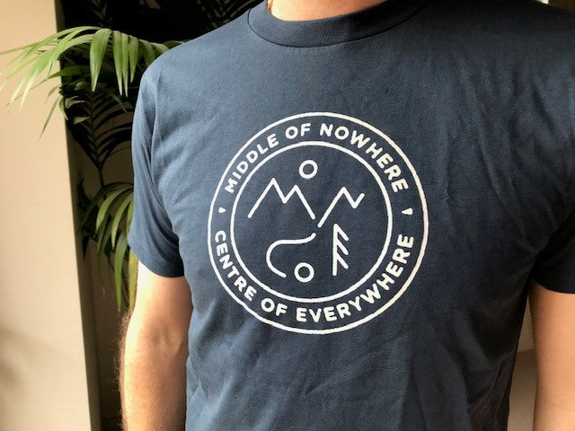 Middle of Nowhere T Shirt - Blue