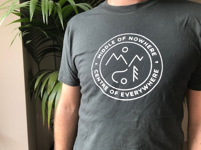 Middle of Nowhere T Shirt - Dark Grey