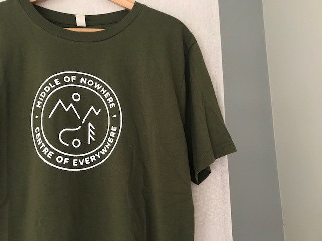 Middle of Nowhere T Shirt - Green