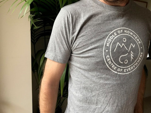 Middle of Nowhere T Shirt - Light Grey