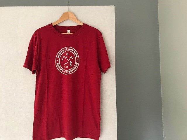 Middle of Nowhere T Shirt- Red