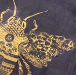 Linen Tea Towel with Bee Design