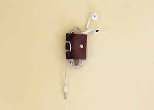 Leather Earphone Holder