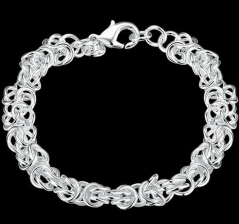 Image of 925 Sterling Silver Cute Unisex Bracelet