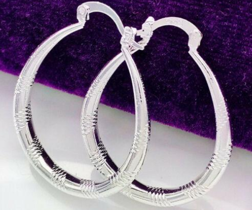 925 Sterling Silver Dangle Earrings 38MM