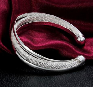925 Silver Filled Bangle Bracelet