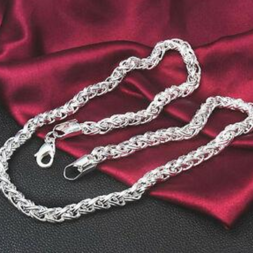 925 Silver Necklace King Type 7MM