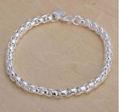 Image of 925 Sterling Silver Charm Chain Bracelet
