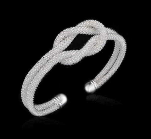 Image of Sliver Open Cuff Bangle Individuality Bracelet