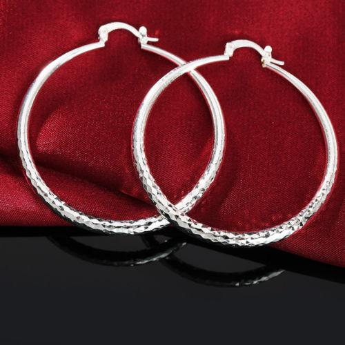 925 Silver Pop New Earrings 70MM