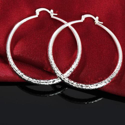 Image of 925 Silver Pop New Earrings 70MM