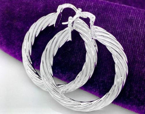 Image of 925 Sterling Silver Round Dangle Earrings