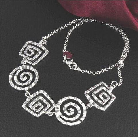 Image of 925 Silver Fashion Jewelry Retro Classic Necklace