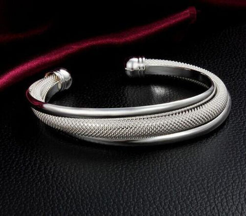 Image of 925 Silver Filled Bangle Bracelet