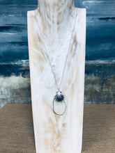 Load image into Gallery viewer, Abstract Mother of Pearl Pendant Long Necklace