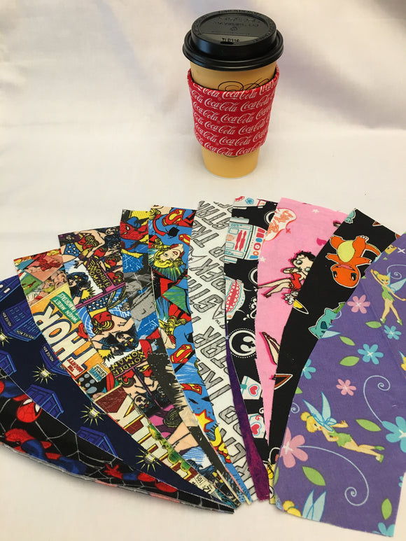 Unique and fun gift ideas! Coffee sleeves, hair scrunchies, hot pads, and lots of great customizable and personalizable handmade items.