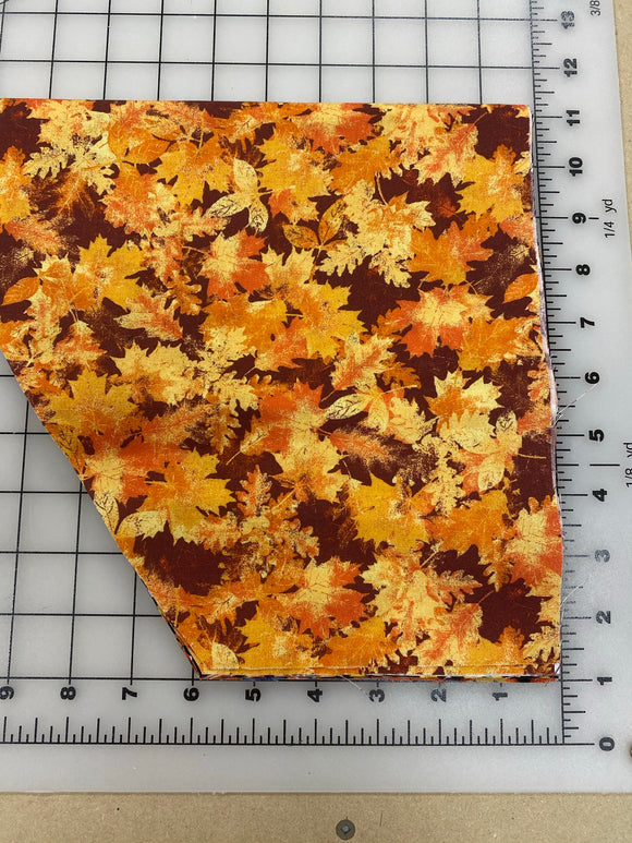 Halloween Dog bandanas. Fall leaves. Small, medium, large, fits ON the collar!