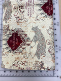 Pop Culture Dog bandanas. HP marauders map beige. Small, medium, large, fits ON the collar!