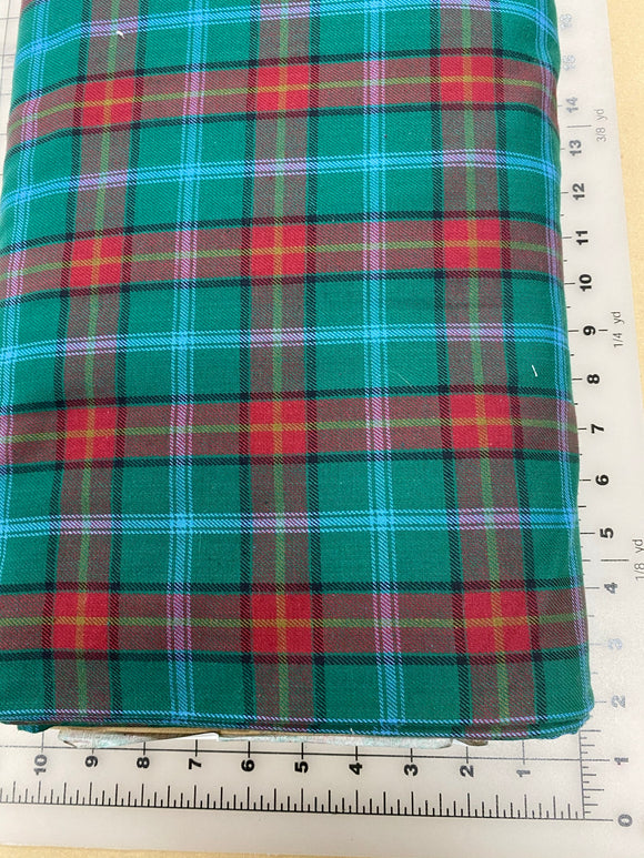 Plaid Dog bandanas. Green/red plaid. Small, medium, large, fits ON the collar!