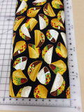 Food Dog bandanas. Tacos. Small, medium, large, fits ON the collar!