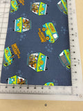 Pop Culture Dog bandanas. Scooby doo mystery machine. Small, medium, large, fits ON the collar!