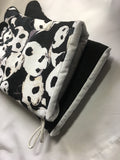 Animals. Pandas. Oven mitts. A pair of Fully Functional long Oven Gloves!