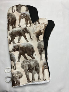 Oven mitts, Animals Elephants! A pair of fully functional long oven gloves!