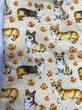 Oven mitts. Animals. Corgis and paw prints!