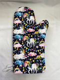 Animals. Unicorns oven mitts. A pair of Fully Functional long Oven Gloves. Adult size!
